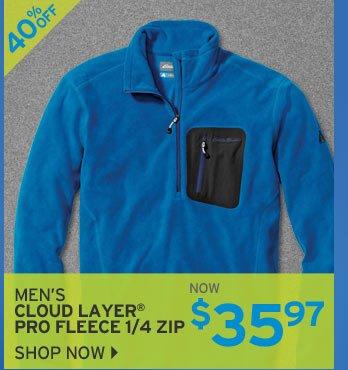 Shop Men's Cloud Layer Pro Fleece 1/4 Zip
