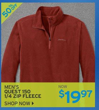 Shop Men's Quest 150 Fleece 1/4 Zip