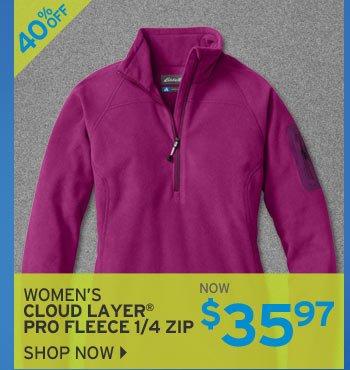 Shop Women's Cloud Layer Pro Fleece 1/4 Zip