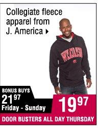 19.97 Collegiate fleece apparel from J. America