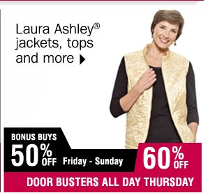 70% off Laura Ashley jackets, tops and more