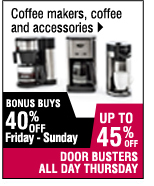 Up to 45% off coffee makers and accessories