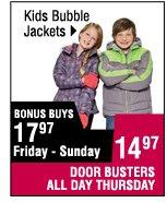 14.97  Kids bubble jackets