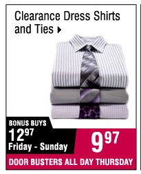 9.97  Clearance dress shirts and ties