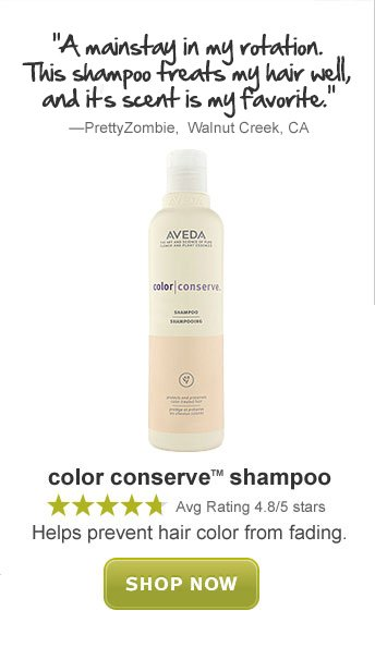 color conserve shampoo. shop now.