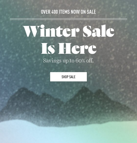 Over 400 items now on sale