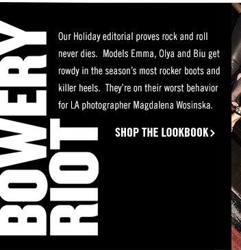 Bowery Riot! Shop the Look Book