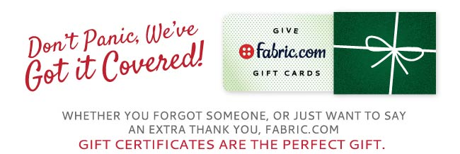 Give a Fabric.com Giftcard!