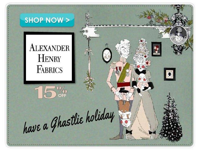 15% Off Alexander Henry Fabrics