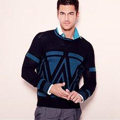 Designer Sale! Men's Polos & Sweaters ft. Karl Lagerfeld, Diesel from $15