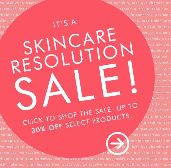 It's a skincare resolution sale!