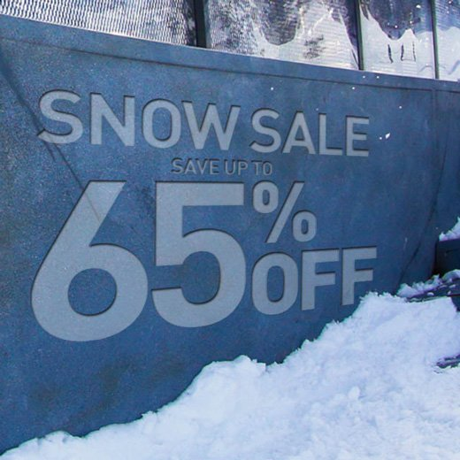 Snow sale up to 65% off