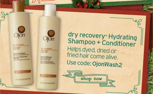 dry recovery Hydrating Shampoo and Conditioner Helps dyed dried or fried hair come alive Use code OjonWash2