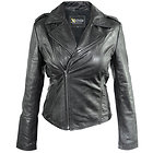 Xelement Womens Black Classic Casual Leather Jacket