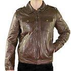 Xelement Mens Urbanite Dark Brown Casual Leather Jacket