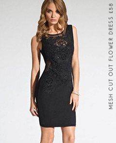 Wrap Front Embellished Dress