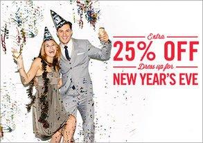 Shop Extra 25% Off: Dress Up for NYE