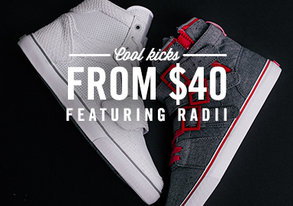 Shop Cool Kicks from $40 ft. Radii
