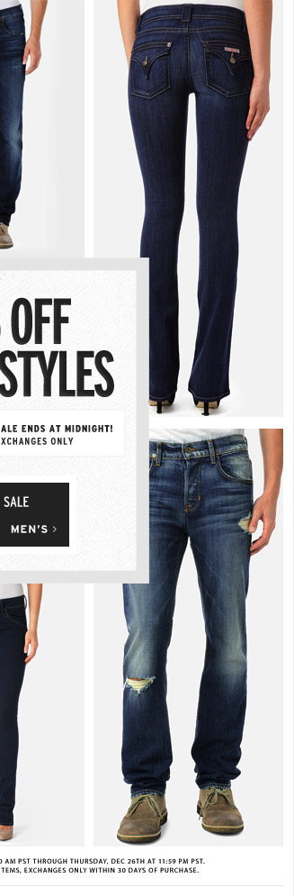 30% Off Select Styles - Men's