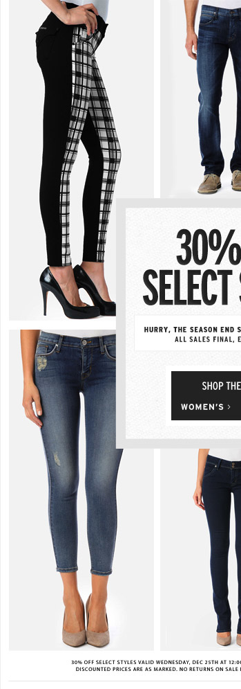 30% Off Select Styles - Women's