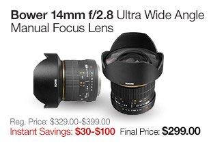 Bower 14mm Lens