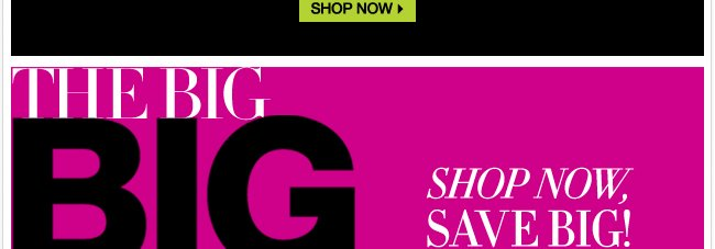 The Big Big Sale - Shop Now Save Big!