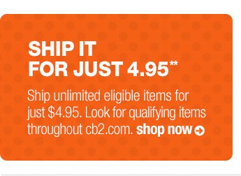 ship it for just 4.95**