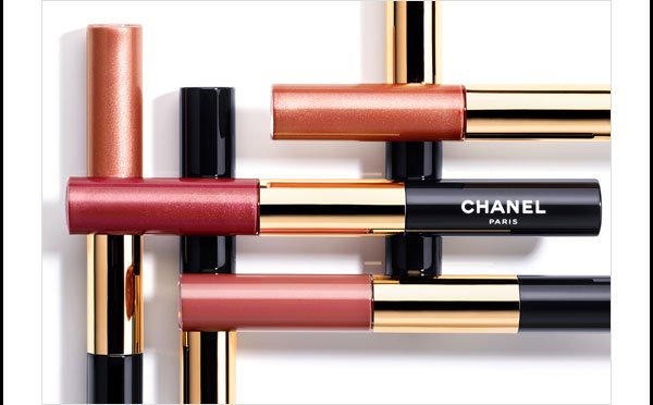 FULL-COVERAGE COLOUR Discover four new shades of your favorite long-lasting lip colour, ROUGE DOUBLE INTENSITE.