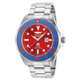 Invicta 14657 Men's Grand Diver Red Dial Blue Bezel Steel Bracelet Dive Watch