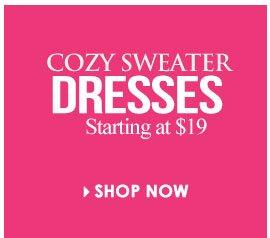 Shop Cozy Sweater Dresses