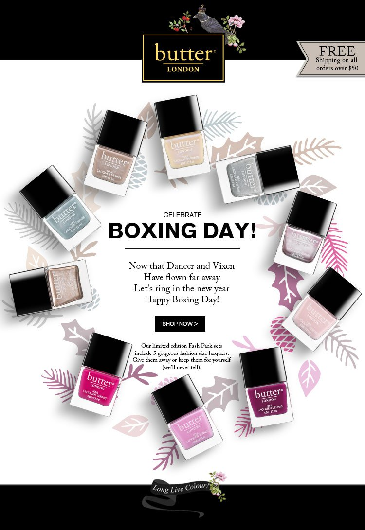 Cheers to Boxing Day. Limited Edition Ombre Sets.