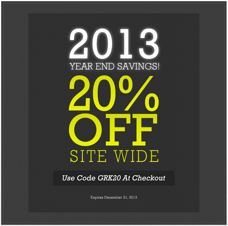 2013 Year End Savings!