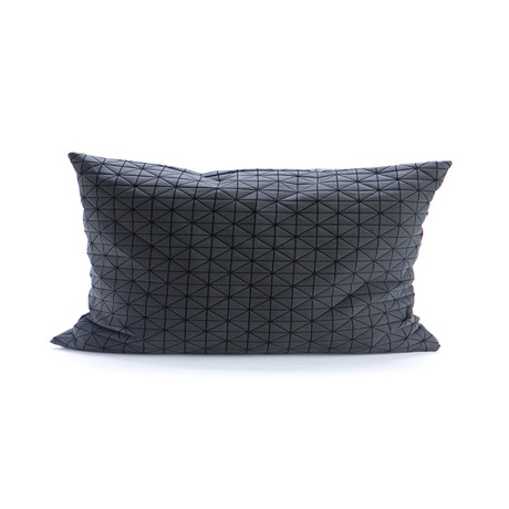 Geo Origami Pillow Cover // Black