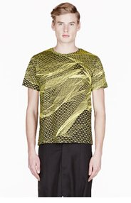 CHRISTOPHER KANE Yellow DIGITAL LANDSCAPE t-shirt for men