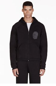 CHRISTOPHER KANE Black Appliqué Hooded Sweater for men