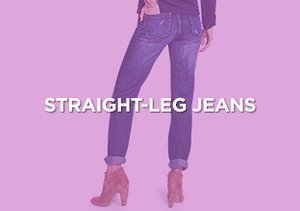 Up to 90% Off: Straight-Leg Jeans