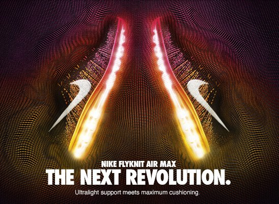 NIKE FLYKNIT AIR MAX THE NEXT REVOLUTION. Ultralight support meets maximum cushioning.