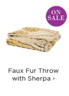 Faux Fur Throw with Sherpa
