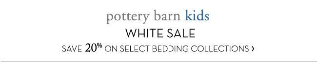 pottery barn kids WHITE SALE