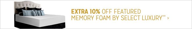 Extra 10% off Featured Memory Foam**