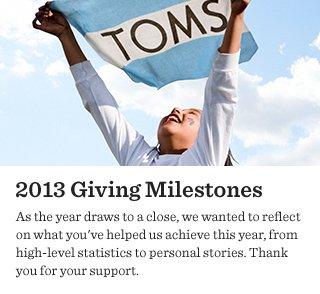 2013 Giving Milestones