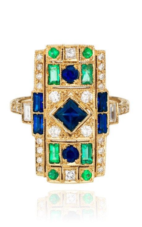 White Gold Ring with White Diamonds