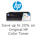 Save Up To 20% On Original HP Color Toner.