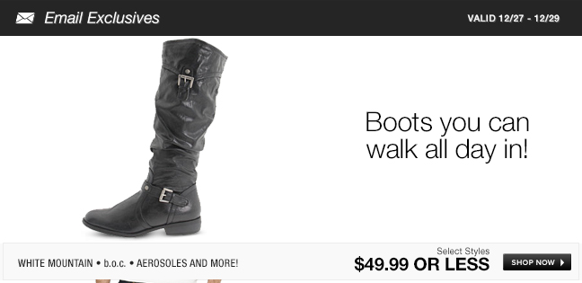 Boots you can walk all day in!