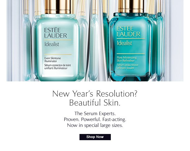 New Year's Resolution?  Beautiful skin.  The Serum Experts.  Proven. Powerful. Fast-acting.  Now in special large sizes.  Shop Now »