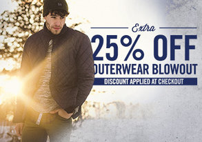 Shop Extra 25% Off: Outerwear Blowout