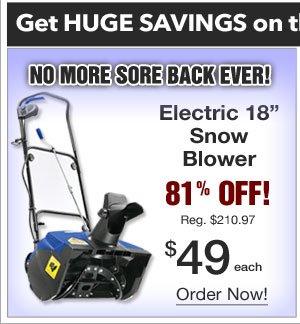 Snow Blower $49.99