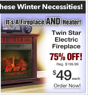 Electric Fireplace $49