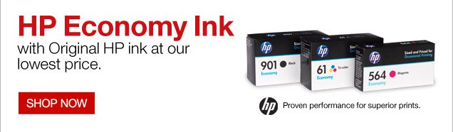 HP  Economy Ink with Original HP ink at our lowest price.   SHOP  NOW