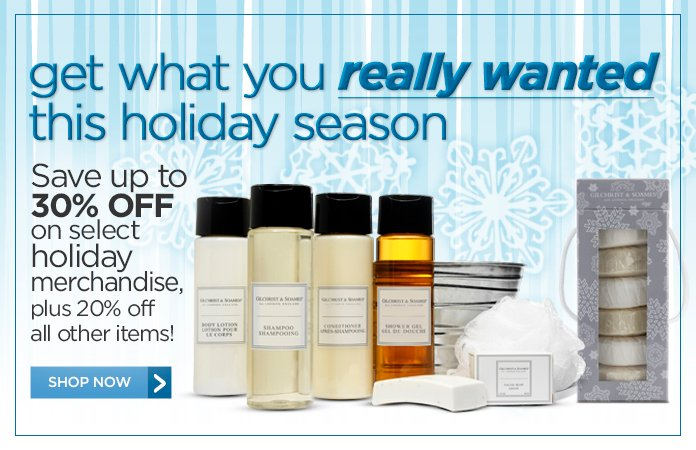 Save 30% on Holiday Gift Sets plus 20% off Sitewide!